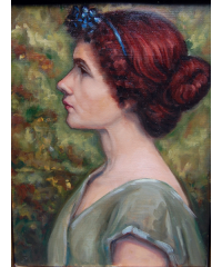 Graves Lady in Green 26h x 22.5w